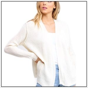 NEW Ivory Cardigan Sweater Layering Coverup Size M